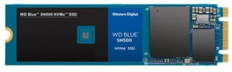 SSD WD Blue 500GB SN500 NVME M.2 PCI Express Gen3 x2 WDS500G1B0C