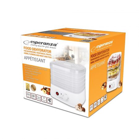 ESPERANZA FOOD DEHYDRATOR FOR MUSHROOMS, FRUITS, VEGETABLES, HERBS AND FLOWERS APPÉTISSANT