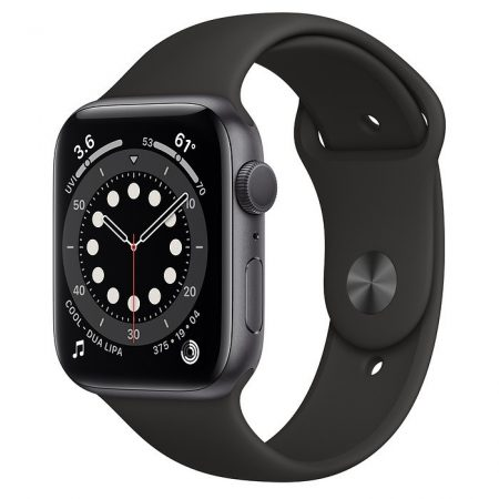 Watch Apple Watch Series 6 GPS 44mm Grey Aluminum Case with Sport Band Black