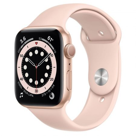 Watch Apple Watch Series 6 GPS 44mm Gold Aluminium Case with Sport Band Pink