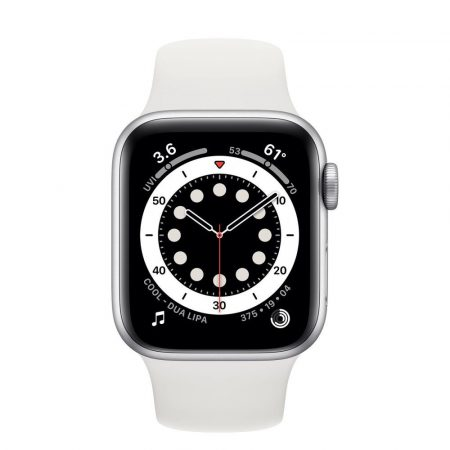 Watch Apple Watch Series 6 GPS 44mm Silver Aluminium Case with Sport Band White